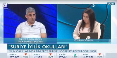Ahmet Turan Koçer A Para Tv'de yürütülen yardım faaliyetlerini anlattı