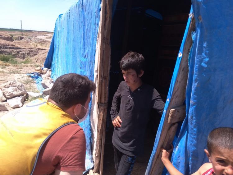 İhtiyaç sahibi  ailelere gıda kolisi dağıtımı yapıldı