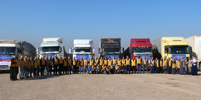 İyilik Derneği İdlib'e 26 Tır Yardım Malzemesinin Gönderimini Sağladı.
